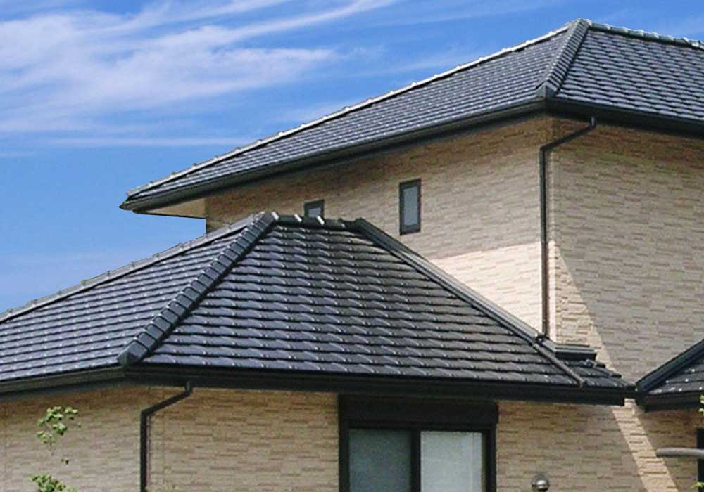 Kinki japanese flat tiles for Flat tile roof